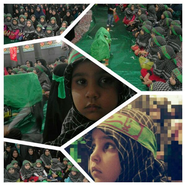 مراسم شهادت حضرت رقیه در شهرستان باشت + تصویر