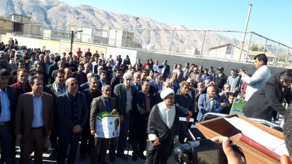 حضور حماسی مردم باشت در راهپیمایی علیه اشرار و اغتشاشگران