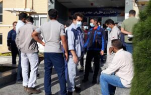 تجمع اعتراضی نیروهای دستور کاری و حجمی شرکت نفت گچساران