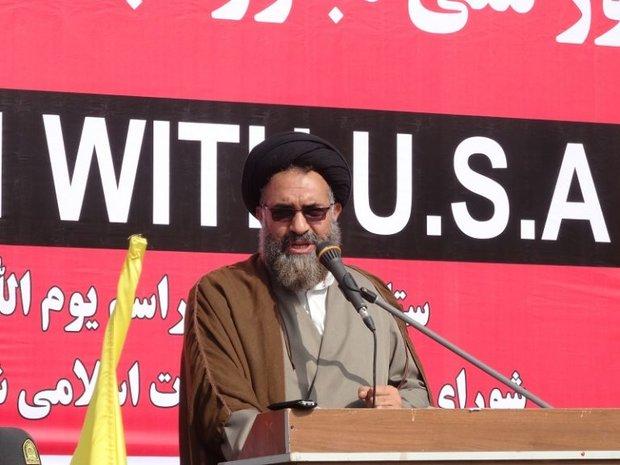 ۱۳ آبان نماد استکبار ستیزی ملت و نظام مقدس جمهوری اسلامی است