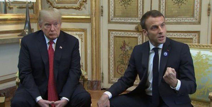 نکات سخنان رئیسجمهور فرانسه در کنفرانس خبری با دونالد ترامپ