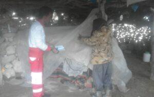 هلال احمر کهگیلویه و بویراحمد به ۱۸۲ خانوار سیل زده امداد رسانی کرد
